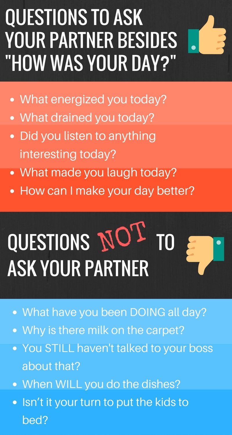Questions to Ask Your Spouse Besides How Was Your Day